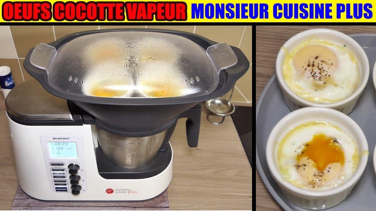 œufs Cocotte Aux Epinards Monsieur Cuisine Plus Thermomix Cuisson A La Vapeur Youtube Recette Monsieur Cuisine Plus Monsieur Cuisine Recette Cuisine Lidl