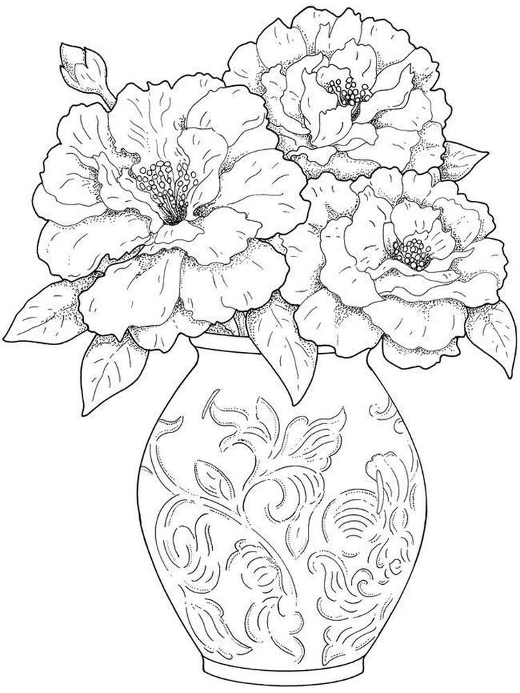 A Flower Coloring Page Flower Coloring Pages Printable Flower