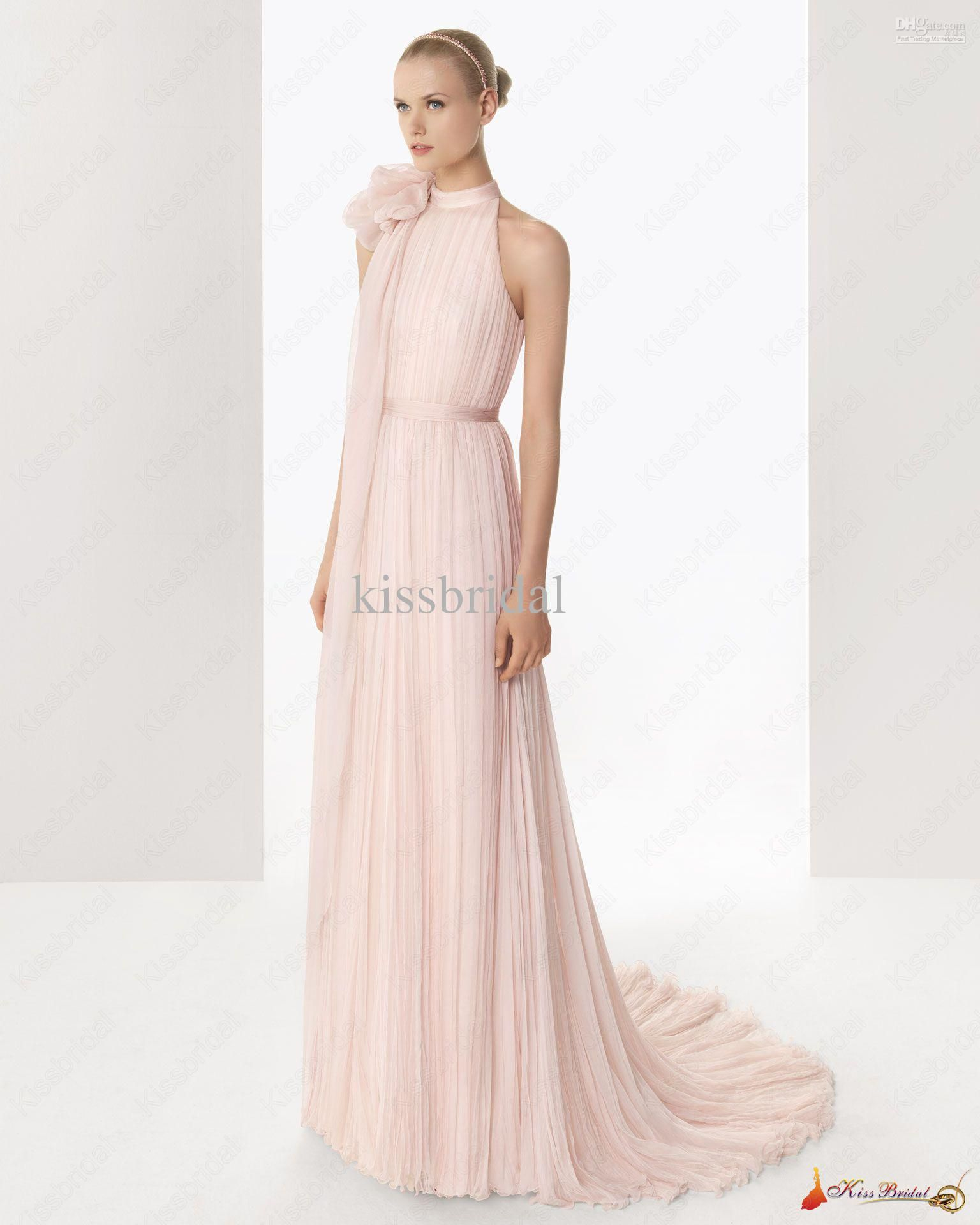 light pink wedding dresses wholesale hot style charming bridal