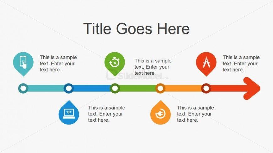 Simple Flat Timeline Design For Powerpoint Timeline Design