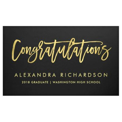 faux gold look congratulations graduate banner trendy gifts