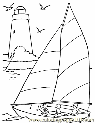 sail boat coloring pages free printable coloring image 001 Sail Boat Coloring Pages  sail boat coloring pages
