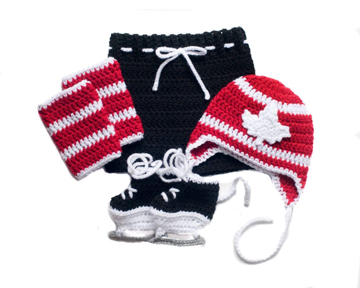 MAPLE LEAF HOCKEY Canada150, Crochet Hockey, Baby Boy Hockey, Team ...