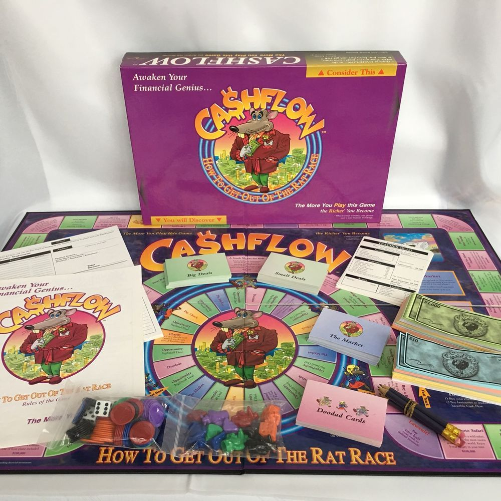 Cashflow 202 Board Game Robert Kiyosaki Rich Dad Poor Dad Investing Board Games Contemporary Manufacture Board & Traditional Games