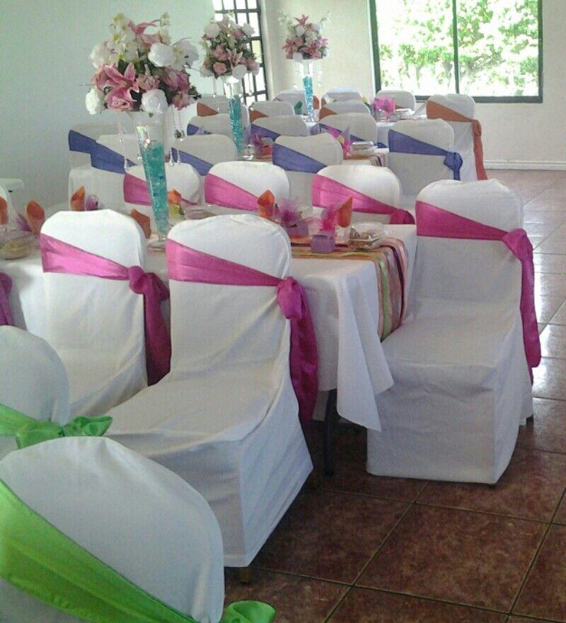 Rainbow Wedding Colorscheme Fuschia Pink Lime Green Burnt Orange
