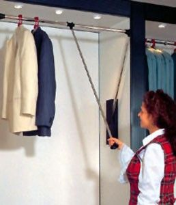 Pull Down Closet Rod Closet Rod Clothes Rod Storage Solutions Diy