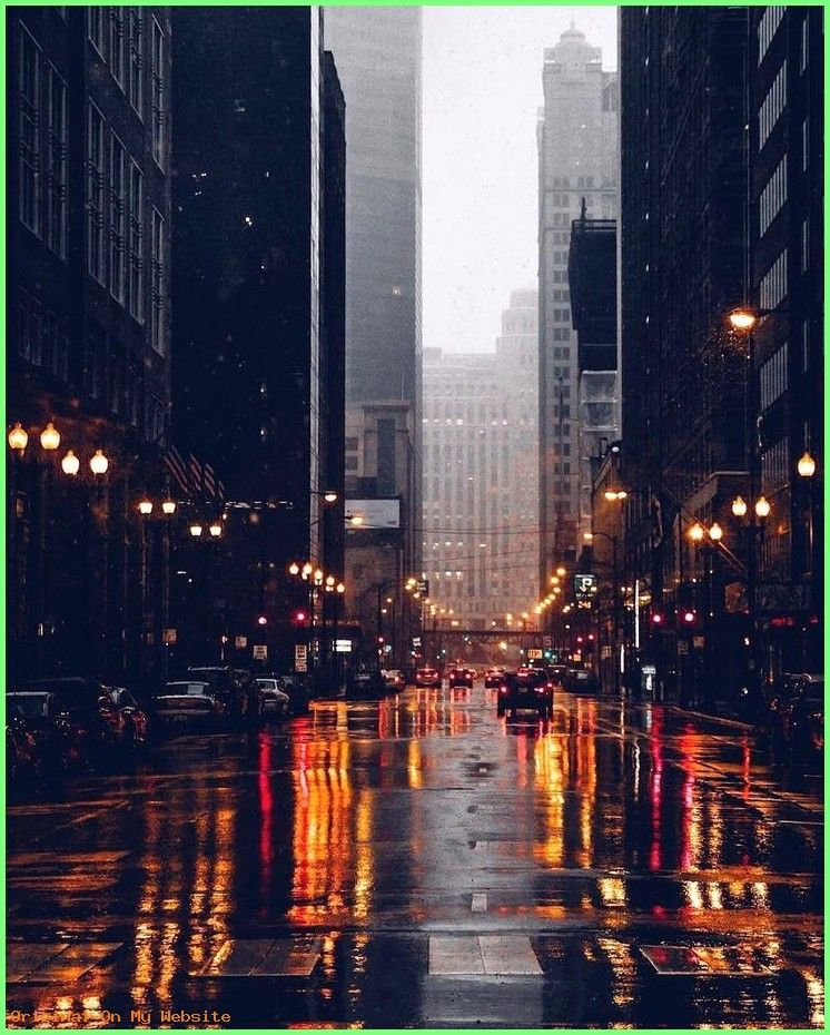 Iphone Wallpapers Dark Is There Any Vibe Better Than Rain In City Lights City Light City Photography City Rain City Streets Photography
