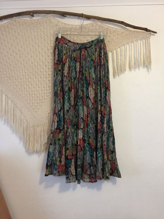 0754c0f289fb0 Vintage bohemian skirt one size fits most just by BuffysBohoCloset