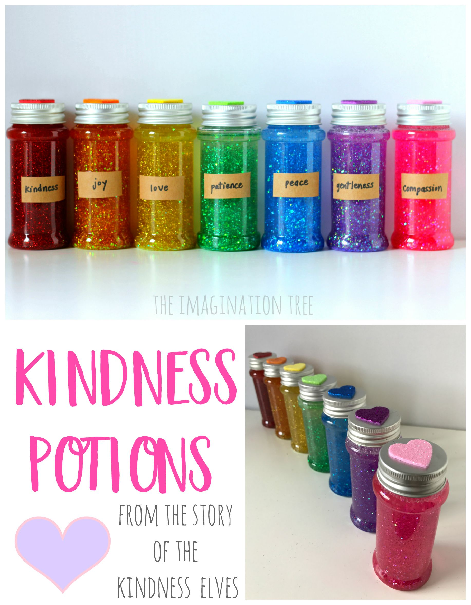 Kindness Potions Sensory Bottles #sensorybottles