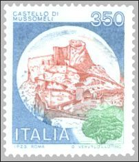 Stamp on Mussomeli Castle