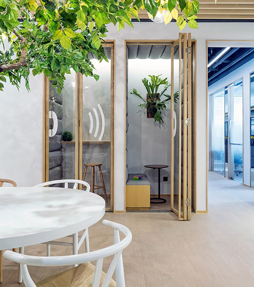 fountown co-working concept space by vermilion zhou private nooks