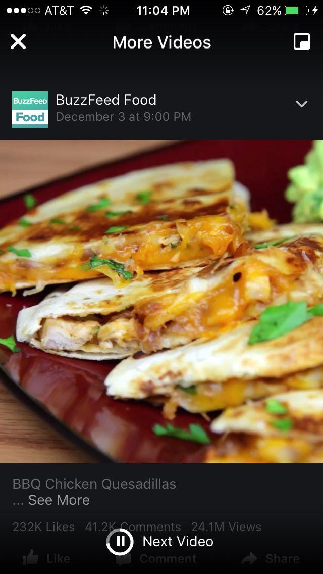Chicken quesadilla  https://www.facebook.com/BuzzFeedFood/videos/1178331278846763/