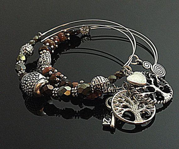 Adjustable Bracelet  Pair of Bracelets  by TheaDesignConcepts