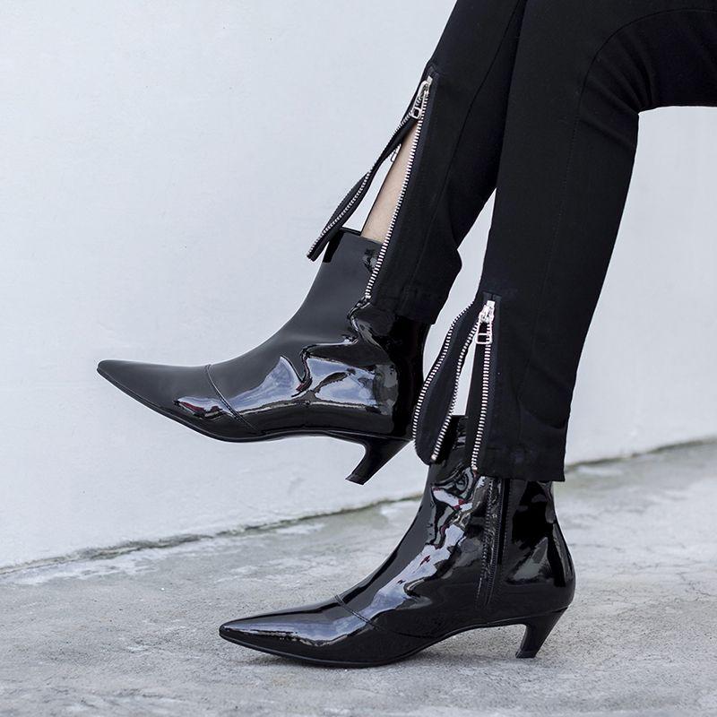 Chiko Brittanny Kitten Heel Ankle Boots Kitten Heel Ankle Boots