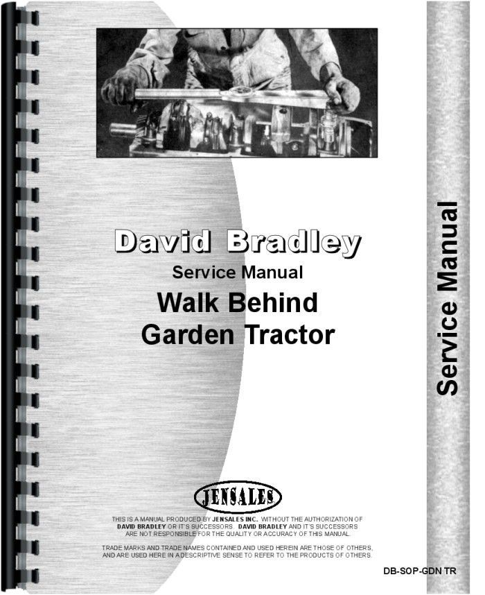 David Bradley 9175751 Walk Behind Tractor Service Manual Sweet