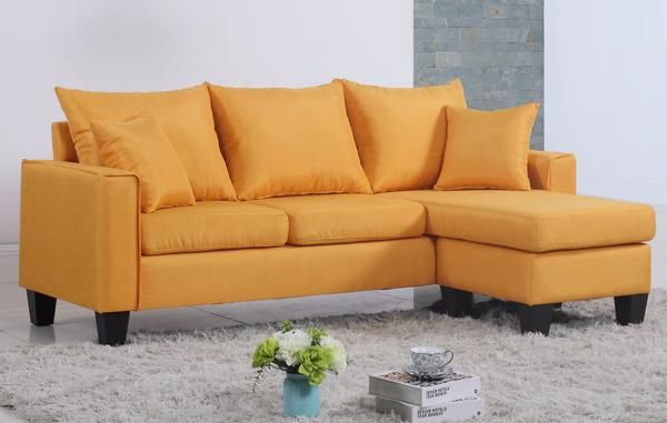 Lisa Vibrant Contemporary Small Space-Saving Sectional Sofa ...