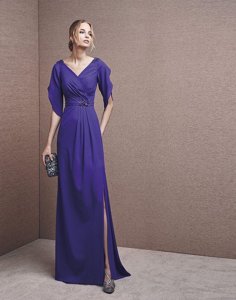 Vestido de fiesta madrinas Palma color lila para | paris | Pinterest ...