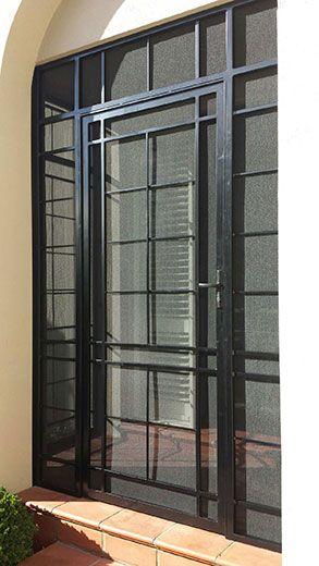 Steel Security Door Porch Enclosure With Stainless Steel Mesh