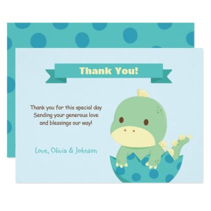 Dinosaur About to Hatch Baby Shower Thank You Note Card Note cards - baby shower thank you notes