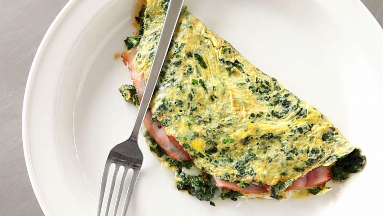 Green eggs and ham omelet ham cheese omelette green