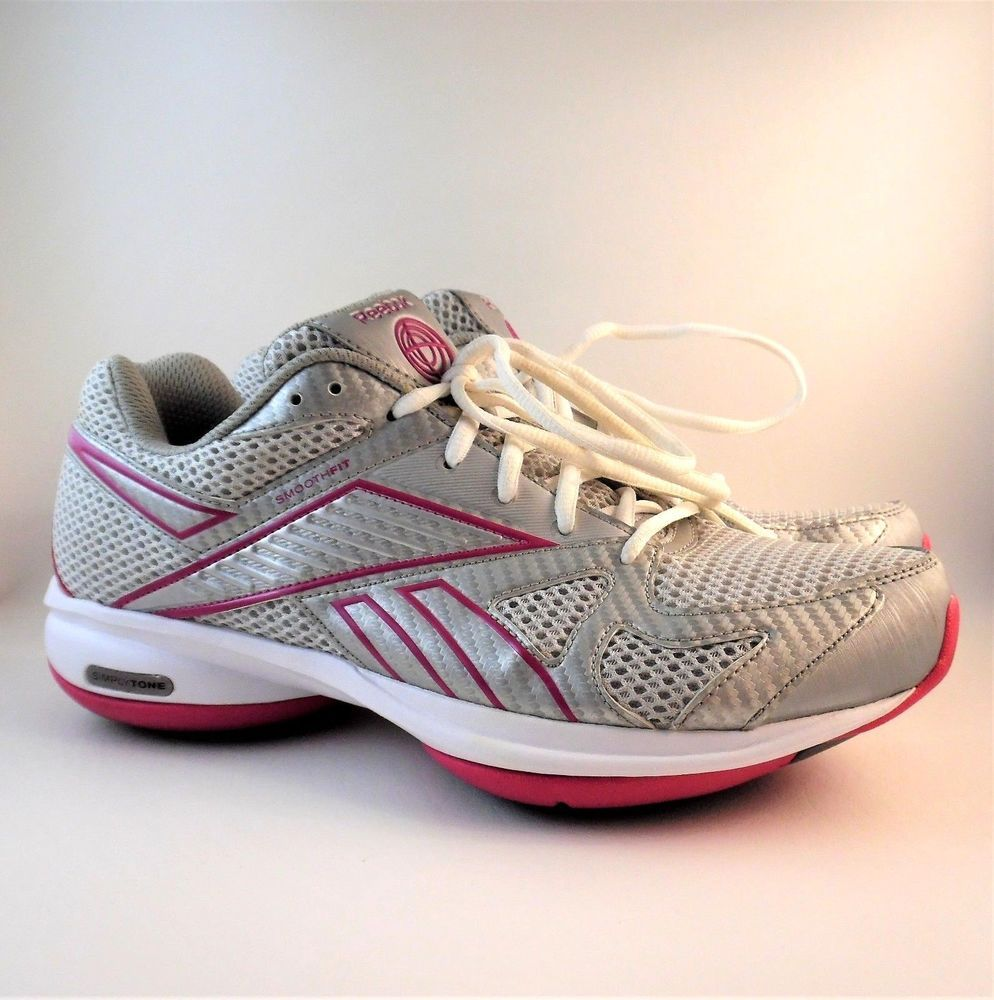 d8a5c5f01fefeb Women s Reebok Simply Tone Smooth Fit Training Cross Fit Sneakers Silver  Pink 11  Reebok  LowTop