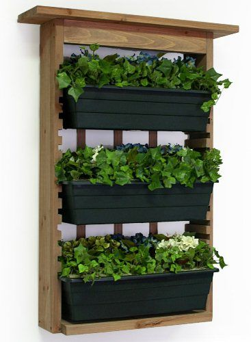 Wall Planters For Outside Algreen 34002 Garden View Vertical