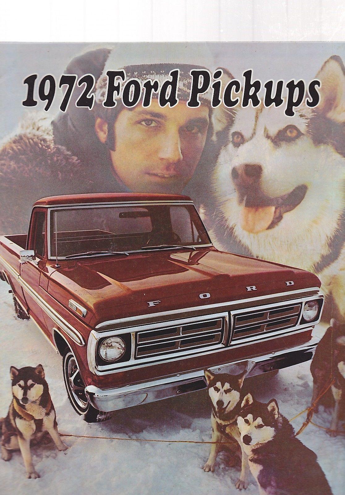 Misc 0620 1972 Ford Pickup Truck Vintage CAR Brochure   eBay ...