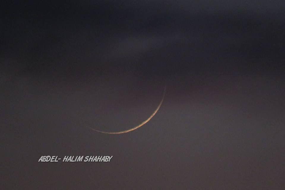 هلال شهر رمضان المبارك كما ظهر بعد غروب اليوم في سماء لبنان ما شاء الله كل عام وانتم بخير Celestial Celestial Bodies Body