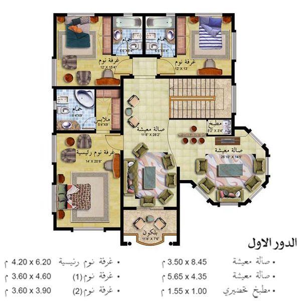خرائط فلل دورين مخططات بمساحات محتلفة تصميم واجهات شعبي مخطط بيت العمر تصاميم Sims House Plans Model House Plan New House Plans