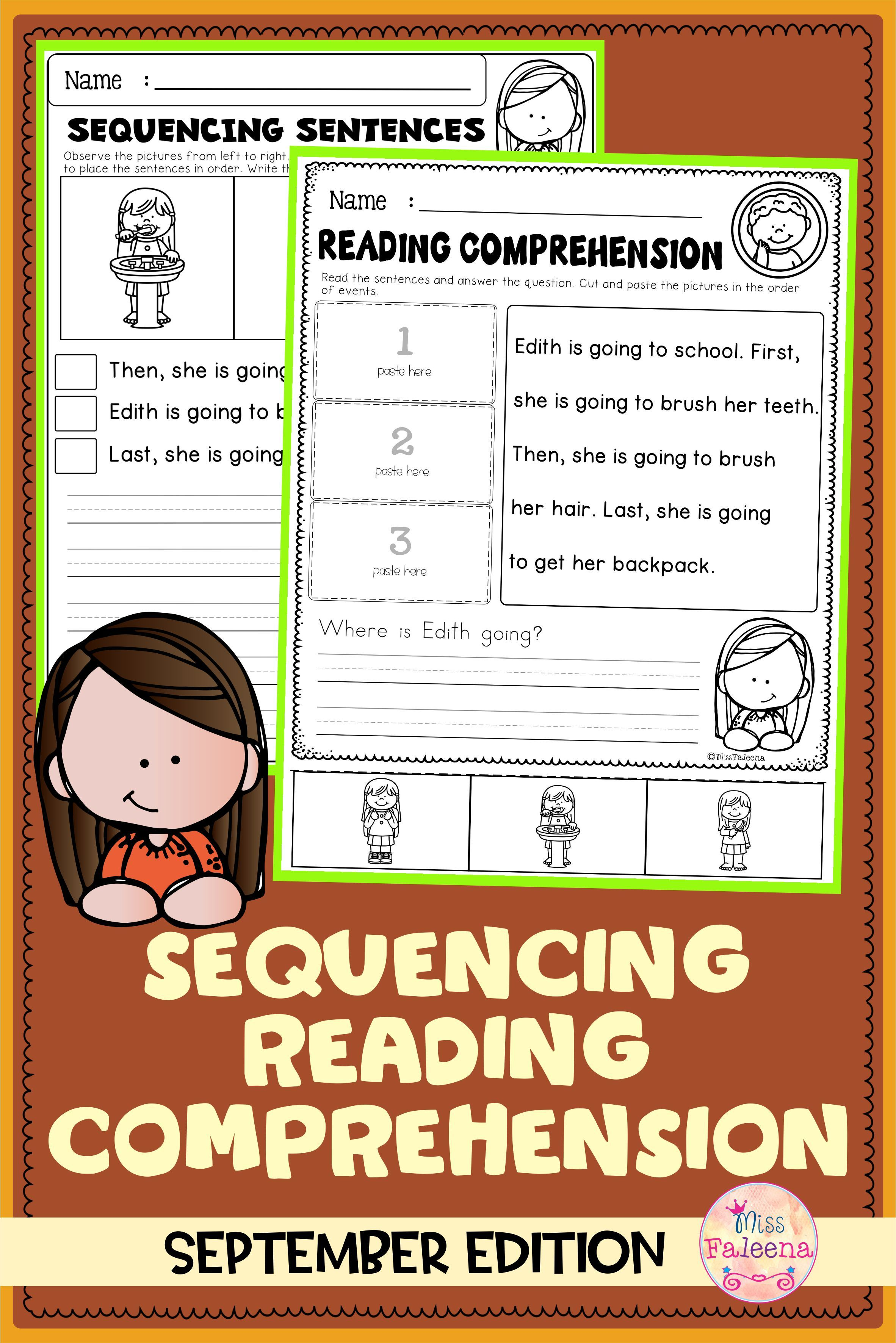 September Sequencing Reading Comprehension In