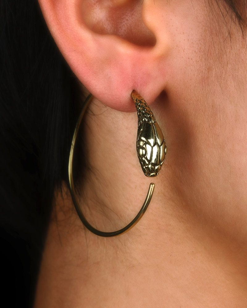 Snake Earrings  Hoop Earrings  Ouroboros  Ouroboros Earrings  Snake  Jewelry