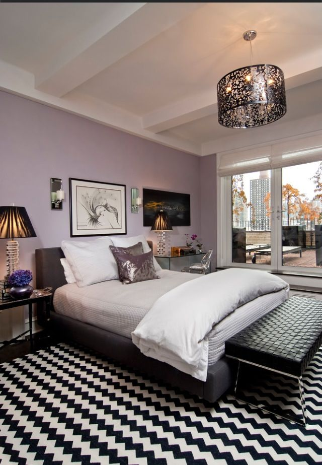 Pastel Purple For A Bedroom Wall Color Purple Bedroom Design Purple Bedrooms Purple Bedroom Walls