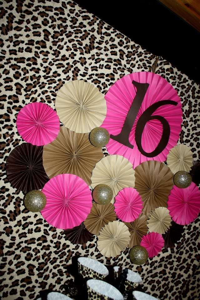 20 PINK LEOPARD SWEET 16 BIRTHDAY PARTY Water Bottle Labels Personalized