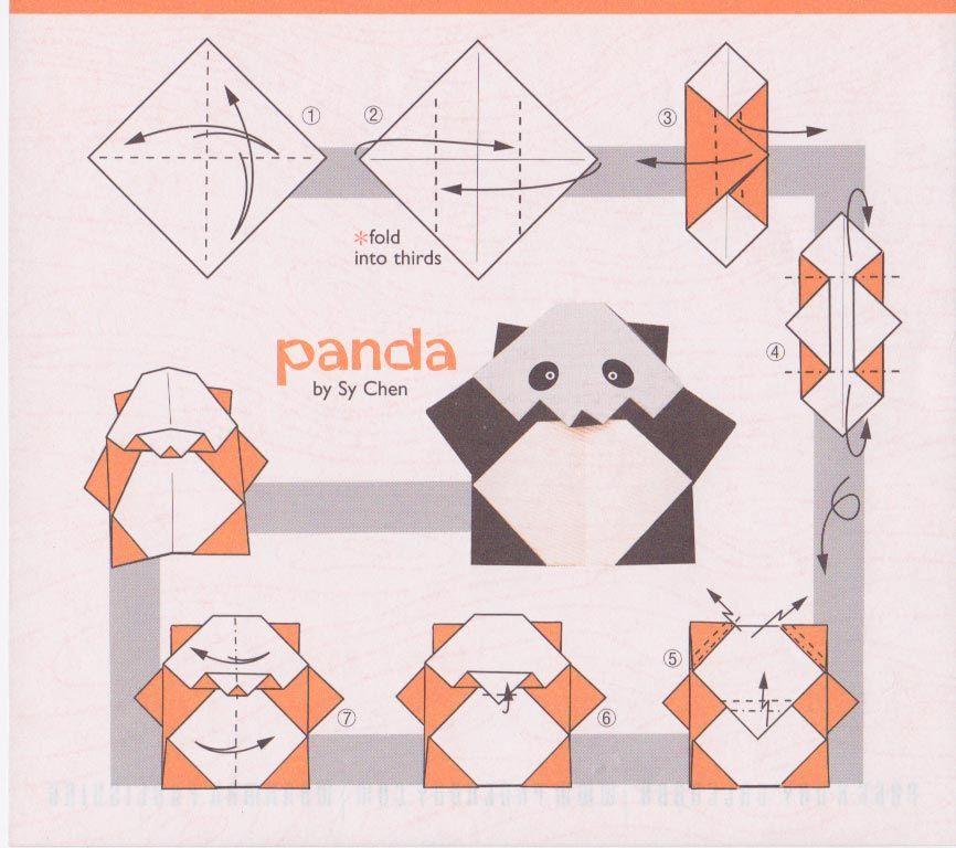 easy origami panda instructions origami pinterest