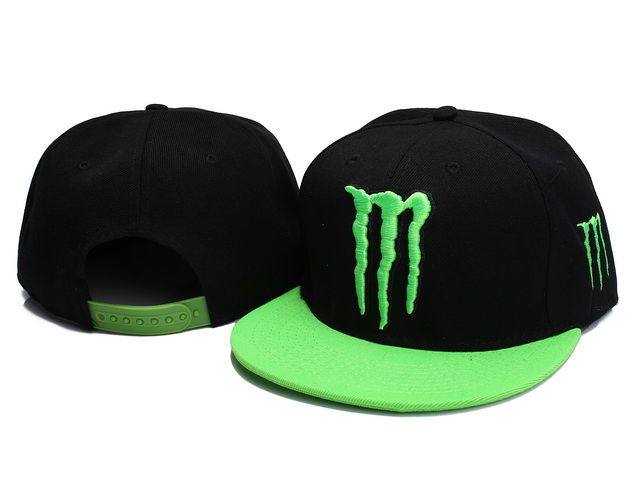 New Era Monster Energy Snapback Hats Black Green 0014! Only  8.90USD ... e29e52bee0ac