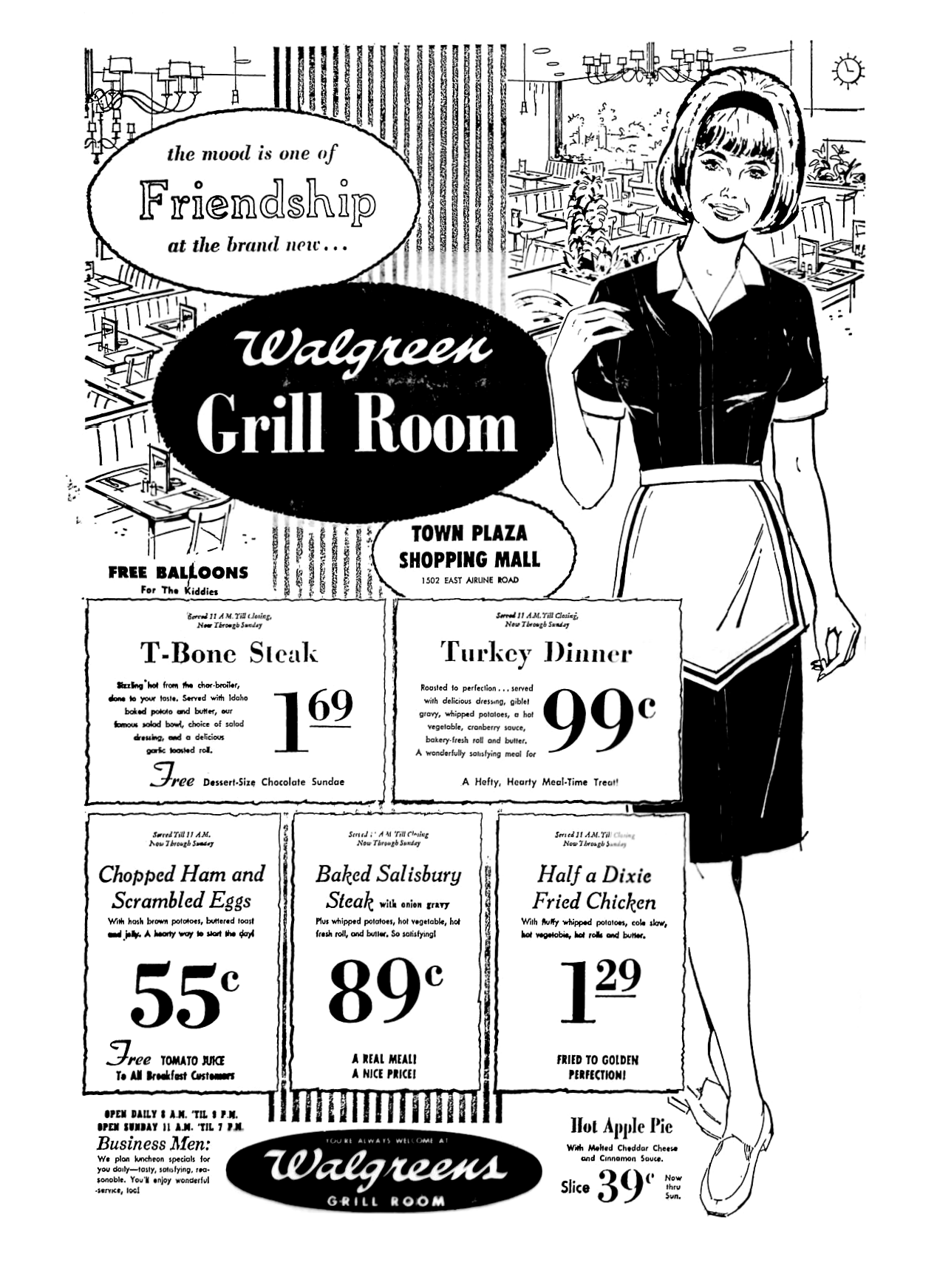 Walgreens Grill Room - April 1969 | 1960\'s Newspaper Vintage Retail ...