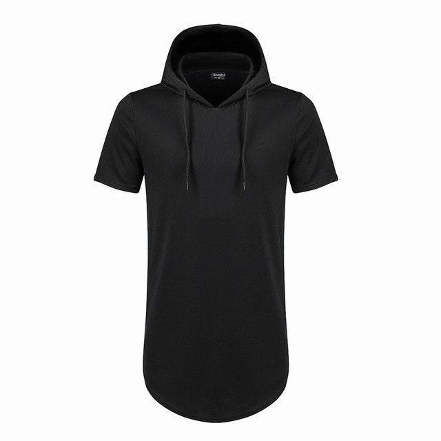 3a282053e30 Moomphya Mens Hooded T Shirt Hipster Hip Hop Streetwear T Shirt Men  Longline Zipper T Shirts