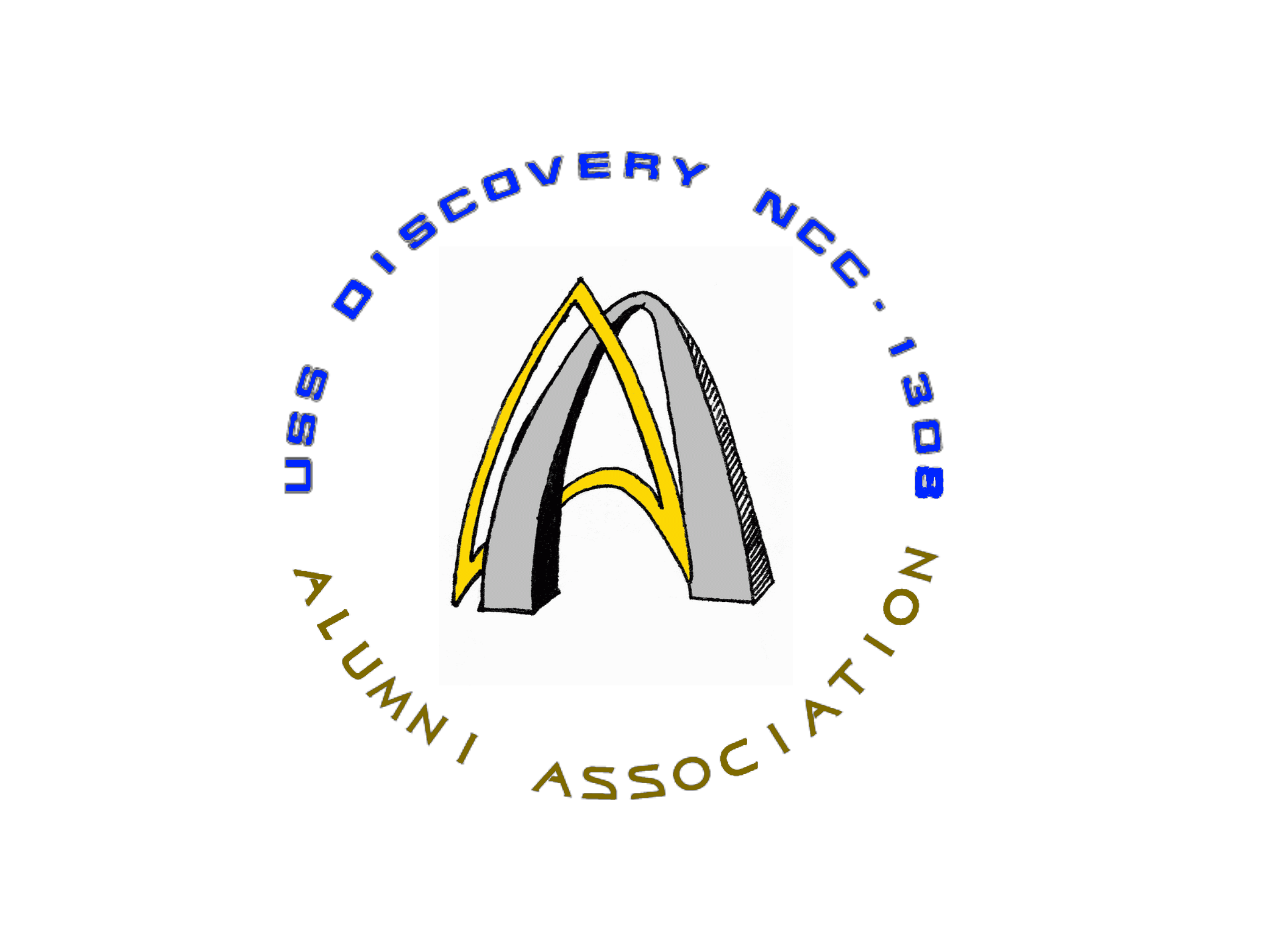 Logo Of The Uss Discovery Ncc 1308 Alumni Association With Images Uss Discovery Retail Logos