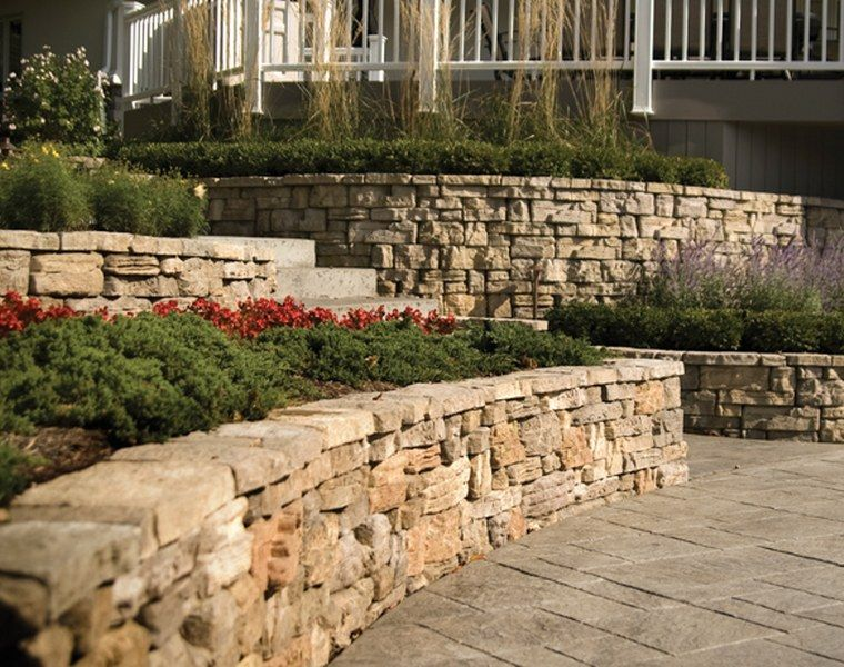 belvedere retaining wall and decorative