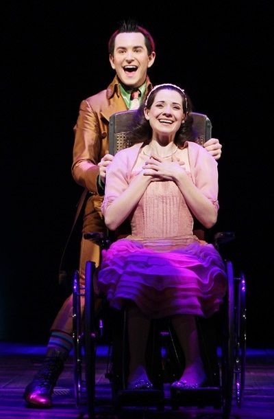 Alex Brightman as Boq and Jenny Fellner as Nessa Rose in