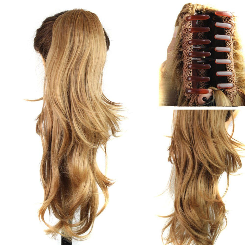 Deniya 23 curly synthetic clip in claw ponytail hair extension deniya curly synthetic clip in claw ponytail hair extension synthetic hairpiece awesome products selected by anna churchill pmusecretfo Images