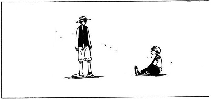 Volume 1 Chapter 2: Luffy and Coby before become a marine