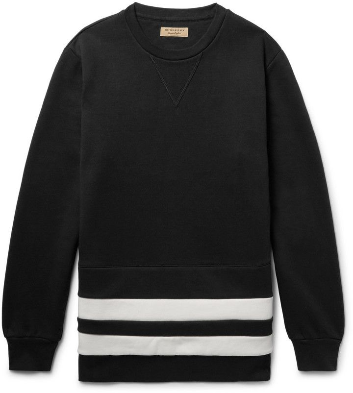 Sweatshirt Hockey Bold Those On It's Made Reminiscent Of Are Stripes Jerseys Has That Burberry vd8xwgqvE