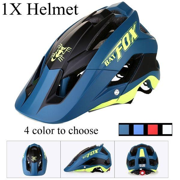BAT-Fox Bicycle Helmet Mountain Bike One-Piece Riding Helmet Adult Sport Cycling