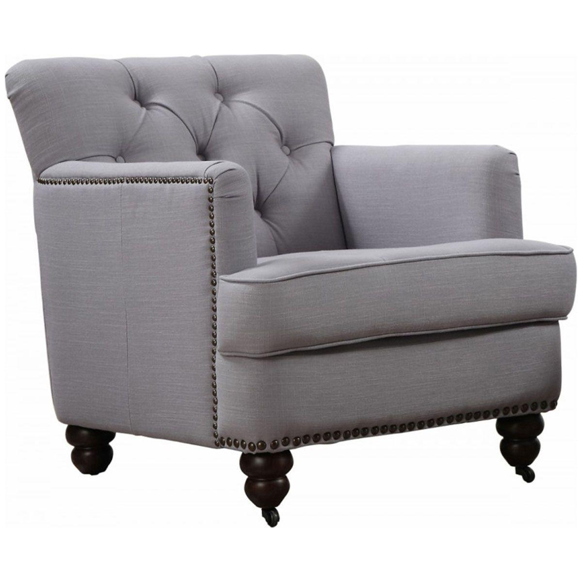 Perfect TOV Furniture Felicity Light Blue Linen Chair TOV C17LB