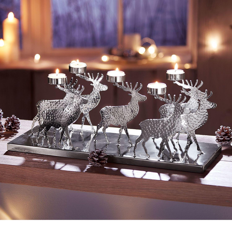 Werbung Home24 Weihnachtsteelichthalter Struer Edelstahl