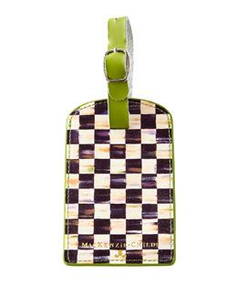 H7Q45 MacKenzie-Childs Courtly Check Luggage Tag