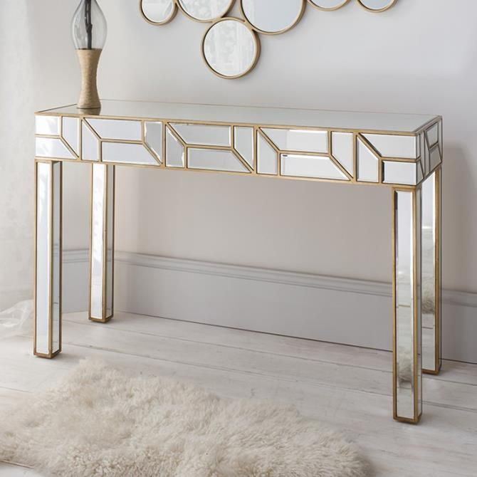 Mirrored Console Tables You Must Have, Contemporary Mirrored Console Table