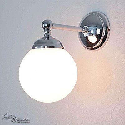 Premium Wandleuchte in Silber glänzend weiß Retro E14 bis 40W 230V - leuchten fürs wohnzimmer