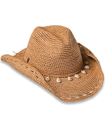 f6e3881ef05 Raffia Cowboy Hat with Shells. Shop Here For Women s Beach Hats